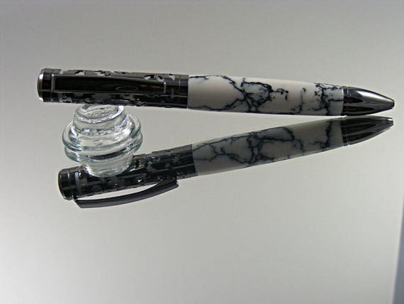 Filigree Ink Pen in Gunmetal over Satin Chrome with Trustone