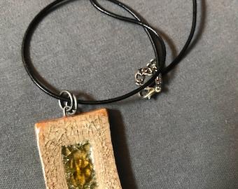 Ceramic and Glass Pendant