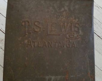 Vintage T.S. Lewis Tea Flakes Country Store Counter Advertising Tin