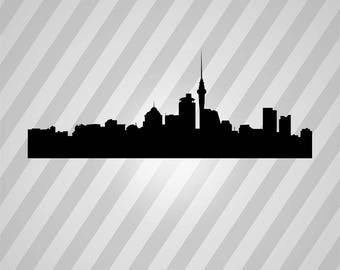 New Zealand Skyline Silhouette - Svg Dxf Eps Silhouette Rld RDWorks Pdf Png AI Files Digital Cut Vector File Svg File Cricut Laser Cut