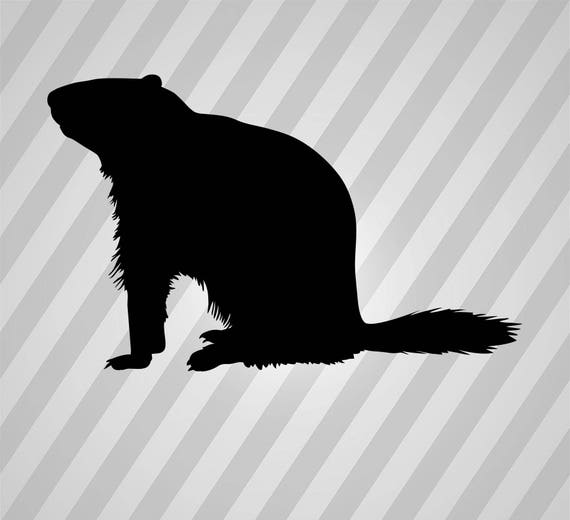 groundhog silhouette svg dxf eps silhouette rld rdworks pdf png ai files digital cut vector file svg file cricut laser cut from donfarmermarket on etsy
