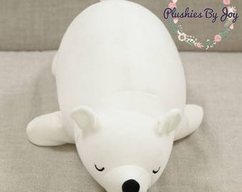 Sleepy Polar Bear Plush Toy Stuffed Animal Doll