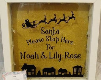 Personalised Santa Please Stop Here Sign