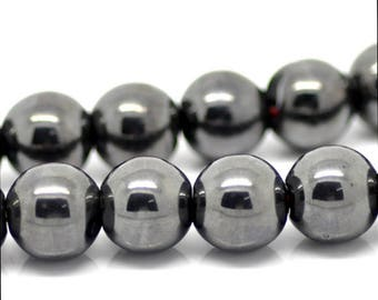 20 black 10mm hematite bead