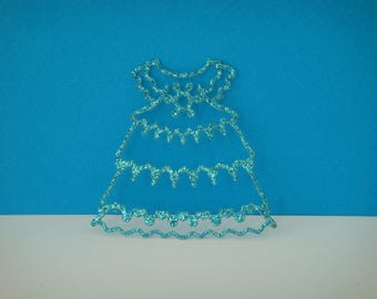 Cut baby blue sequined dress
