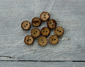 Set of 10 buttons Nature