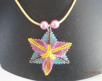Pendant necklace, TRILLIUM beads.