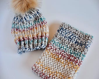 Handmade Hat & Cowl Set