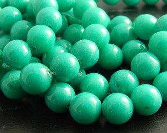 10 beads of Jade Emeraude10mm ref 630