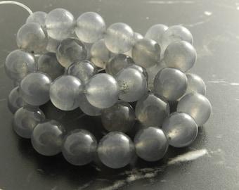 10 beads 10mm gray Jade ref 653