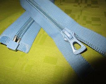 light blue zip nylon separable