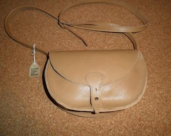 "Small bag ""trudi"" Tan Leather adjustable strap"