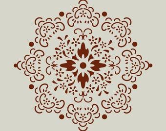 Rosette. Rose stencil. (Ref 384) adhesive vinyl stencil