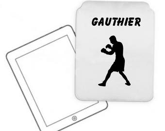 Cover for tablet pc boxing personalized with name