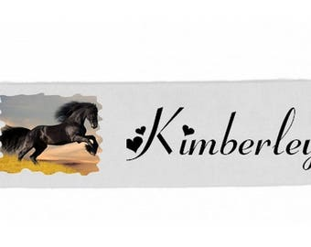 White girls horse personalized with name banner