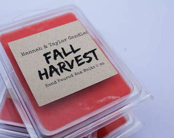 Fall Harvest Wax Melt | Handmade Wax Tart | Fall Harvest Scented Wax Tart | Housewarming Gift | Fall Harvest Candle | Harvest Soy Wax Melt