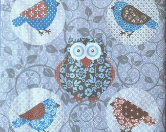 OWL bird napkin