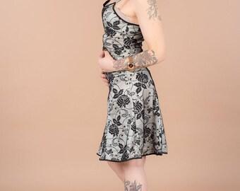 thin straps cut vintage knit dress