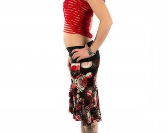 original asymmetrical skirt just be worn as a strapless top