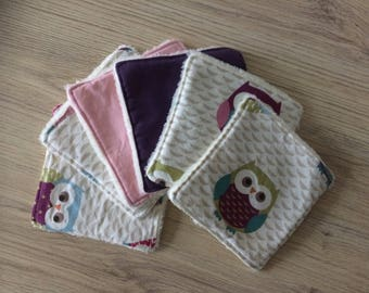 wipes washable baby fabric and fleece patterns owls/owls