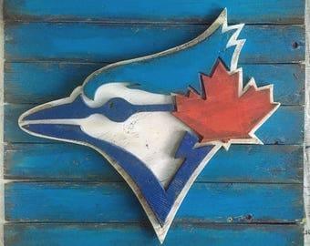 Wooden Blue Jays logo