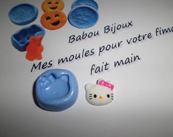 Mold for polymer clay Cat 1.5 cm approximately