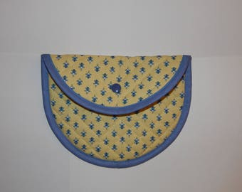 POUCH SUNNY YELLOW AND BLUE
