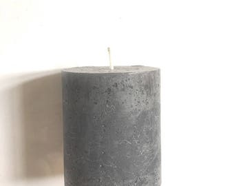 Candle gray round home decoration