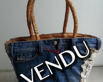 Bag / basket Tote jean