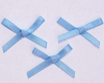 25 x 3mm - blue - 2313 Satin Ribbon bows