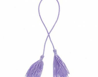 Purple + cord tassels