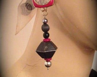 Vintage clip earrings designer art deco