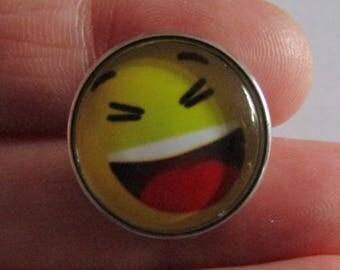 Snap 20mm Diameter Theme Face smile