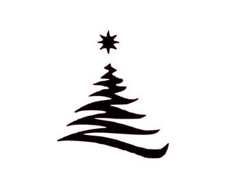 Christmas Tree Stencil Holiday Stencil