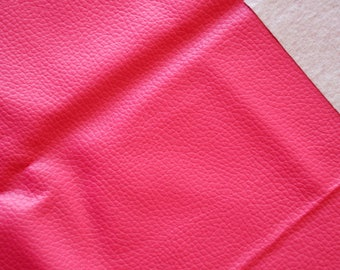 Fabric faux leather pink 45 * 50cms