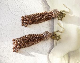 EARRINGS to ear chains EN METAL DE color copper