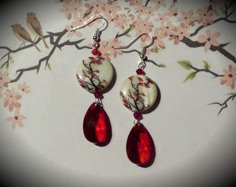 JAPANESE CHERRY EARRINGS