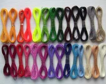 waxed thread braiding and sewing section 1 mm length 5, choose from 22 colors