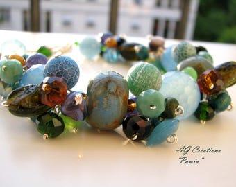 "This BRACELET pearls & Ribbon ""PAWIA"""