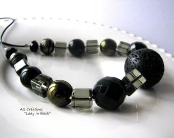 NECKLACE 'LADY IN BLACK'
