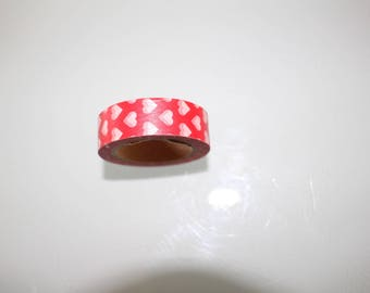 Washi tapE red and white hearts