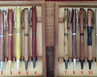 Hand turned wooden ballpoint pen