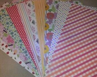 Lot de 10 feuilles de papier cartonné fantaisie avec paillettes multicolores pour scrapobooking, carterie ou collage 1