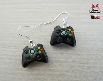 Video game controller stud earring
