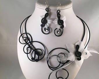 Hello 2 piece necklace & earrings set