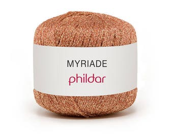 Metalic thread brilliant phildar yarn multi color blush