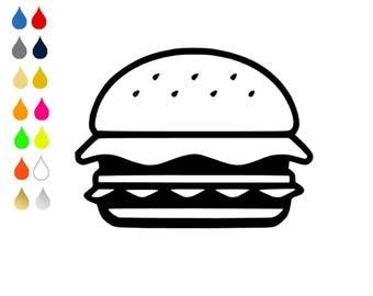 FLEX pixel pattern / BURGER / choose colors