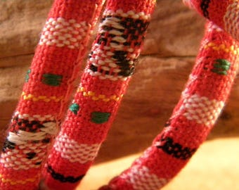 90 CM cotton cord ethnic 6 mm - red - CE 6