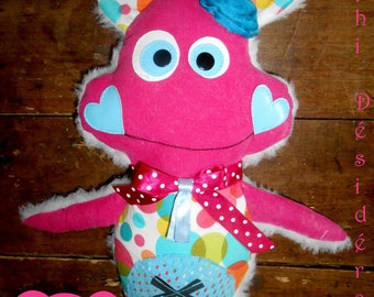 "Plush, cuddly ""Miss Lily Rose"" Original Multi color"