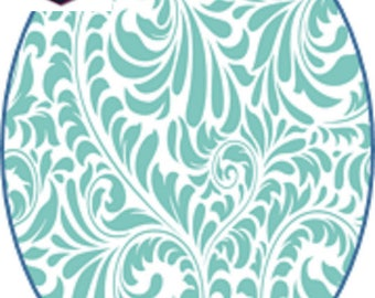 1 cabochon clear size 40 x 30 mm fabric theme